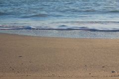 Sea Water beach River coast. Blue Stock Images