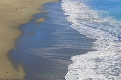 Sea water on the beach. In winter Royalty Free Stock Image