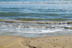Sea water in the beach Stock Photography
