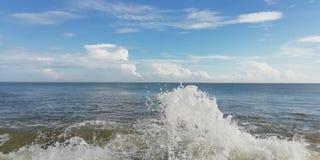 Sea water with bule sky. stock photo