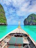 Sea water is emerald green Stock Image