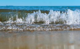 Sea wave, the excitement on the shore sea, sea water foam, the water is boiling. Sea water foam, sea wave, the excitement on the shore sea, the water is boiling stock photo