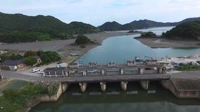 Sea water gate at Goheung. South Korea, Asia when Oct-17-2017 stock footage