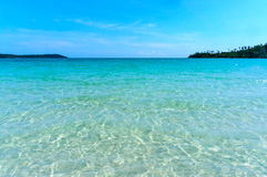 Sea water of Koh Kood, Thailand sea Stock Photography