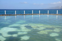 Sea-water pool, Tenerife Spain Royalty Free Stock Photos