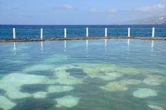 Sea-water pool, Tenerife Spain Royalty Free Stock Photos