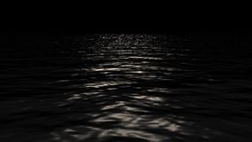 Sea and Water Ripples on a Black Background. Sea and Water Ripples on a Black Screen stock video footage