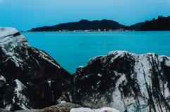 Sea water rocks Royalty Free Stock Image