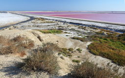 Sea water salt ponds Stock Photography