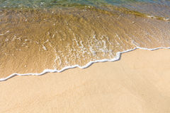 Sea water and sand Royalty Free Stock Photo