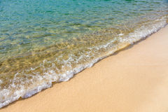Sea water and sand Stock Image