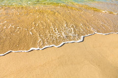 Sea water and sand Royalty Free Stock Photography