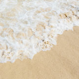 Sea water on sand beach Royalty Free Stock Image