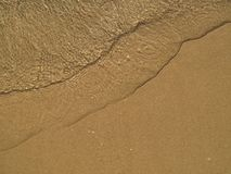 Sea water on the sand Stock Photo