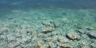 Sea water. See-through sea water, Crete, Greece Stock Photo