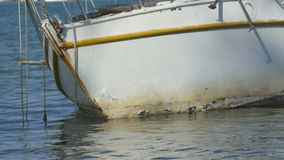 Sea Water Shipwreck. Yacht wreck on the sea stock video