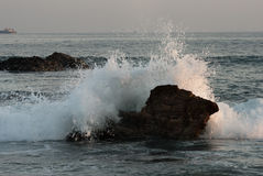 Sea water splash Stock Photography