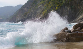 Sea water splash Stock Image