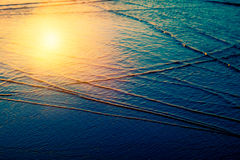 Sea water and sun Stock Photo