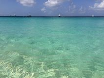 Sea water. In a sunny day - Anguilla Royalty Free Stock Images