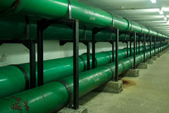 Sea water supply pipes Royalty Free Stock Photos