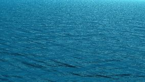 Sea water surface in blue stock video footage