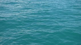 Sea water surface, view from moving boat stock footage
