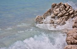 Sea water texture, summer background with waves Royalty Free Stock Photography