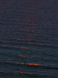 Sea water texture at sunset. Sea water texture at the sunset Royalty Free Stock Photo