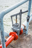 Sea water valve Royalty Free Stock Images