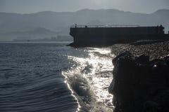 Sea water wave swash. The Sea water wave swash royalty free stock photos