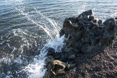 Sea water wave swash. The Sea water wave swash stock photos