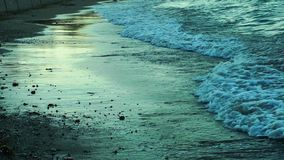 Sea Water Waves and Reflection. Video stock footage