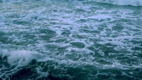 Sea water waves and reflection. Video stock video