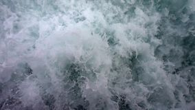 Sea Water Waves. Slow Motion stock video