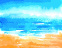 Sea watercolor background Royalty Free Stock Photo