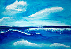 Sea watercolor painted. Background with sea watercolor painted Royalty Free Stock Images