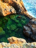 Sea watered Pool. In Greece Royalty Free Stock Image