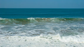 Sea Wave. A wave in the Atlantic Ocean, Western Sahara Stock Image