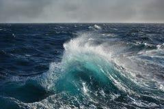 Sea wave in the atlantic ocean Royalty Free Stock Photos