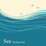 Sea wave background for text Royalty Free Stock Photography