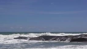 Sea wave on the beach. stock footage