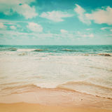 Sea wave and beach. With vintage tone Royalty Free Stock Photo