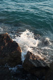 Sea wave break on stone Royalty Free Stock Image