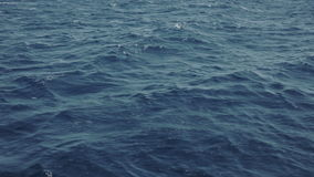 Sea wave close up, low angle view stock footage