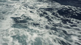 Sea wave close up, low angle view stock video footage