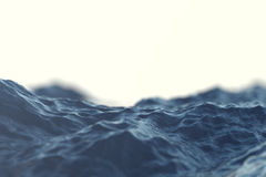 Sea wave close-up, low angle view with bokeh effects. 3d rendering. Sea wave close-up, low angle view with bokeh effects, 3d rendering Stock Photography