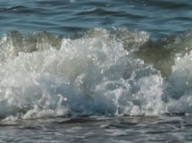 Sea wave closeup photo. Beautiful picture, background, wallpaper Royalty Free Stock Photography