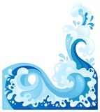 Sea wave in the decorative style Stock Photography