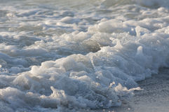 Sea wave detail stock photography